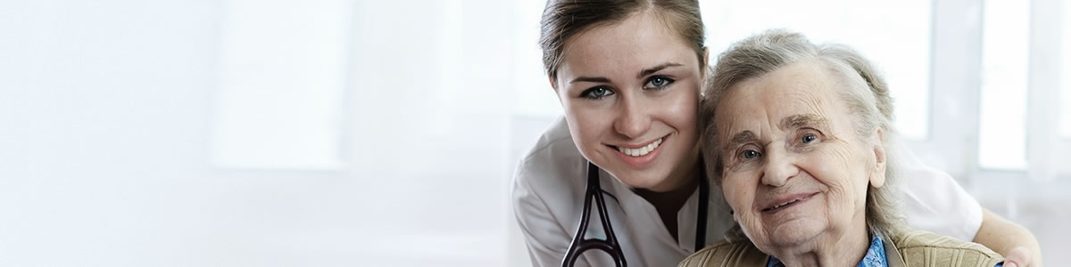 Healthcare - nurse with elderly lady